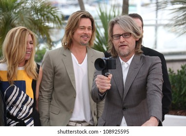 Brad Pitt and Andrew Dominik during the 'Killing them Softly' photocall during the 65th Cannes Film Festival, Cannes, France. 22/05/2012 Picture by: Henry Harris / Featureflash