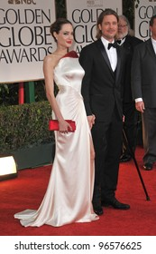Brad Pitt & Angelina Jolie at the 69th Golden Globe Awards at the Beverly Hilton Hotel. January 15, 2012  Beverly Hills, CA Picture: Paul Smith / Featureflash