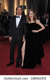 Brad Pitt & Angelina Jolie at the 84th Annual Academy Awards at the Hollywood & Highland Theatre, Hollywood. February 26, 2012  Los Angeles, CA Picture: Paul Smith / Featureflash