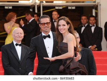 "Brad Pitt & Angelina Jolie at the gala premiere of his new movie ""The Tree of Life"" in competition at the 64th Festival de Cannes. May 16, 2011  Cannes, France Picture: Paul Smith / Featureflash"