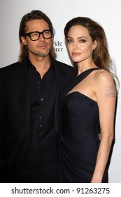 """Brad Pitt, Angelina Jolie at the """"In The Land Of Blood And Honey"""" Los Angeles Premiere, ArcLight Cinemas, Hollywood, CA 12-08-11"""