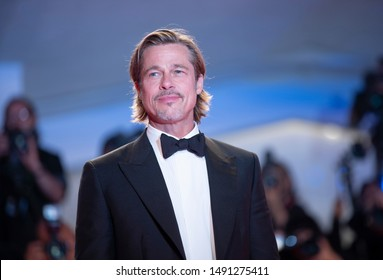 Brad Pitt attends the red carpet of AD ASTRA during the 76th Venice Film Festival on August 29, 2019 in Venice, Italy.