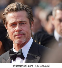 "Brad Pitt attends the screening of ""Once Upon A Time In Hollywood"" during the 72nd annual Cannes Film Festival on May 21, 2019 in Cannes, France."