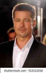 Brad Pitt at the Los Angeles premiere of 'Allied' held at the Regency Village Theatre in Westwood, USA on November 9, 2016.