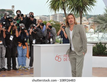 """Brad Pitt at photocall for his new movie """"Killing Them Softly"""" in competition at the 65th Festival de Cannes. May 22, 2012  Cannes, France Picture: Paul Smith / Featureflash"""