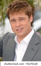 "Brad Pitt at photocall for his new movie ""A Mighty Heart"" at the 60th Annual International Film Festival de Cannes. May 21, 2007  Cannes, France.  2007 Paul Smith / Featureflash"