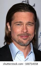 """Brad Pitt at the West Coast Premiere Reading of """"8"""" Shows, Wilshire Ebell Theater, Los Angeles, CA 03-03-12"""