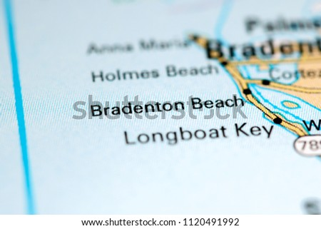 Map Of Florida Bradenton.Bradenton Beach Florida Usa On Map Stock Photo Edit Now 1120491992