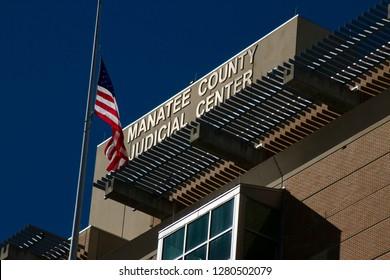 Bradenton, Florida, USA - 01-012019 Manatee County Judicial Center