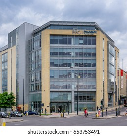Bradford, England on 31st May 2017:Provident Financial plc is a British sub-prime lender  based in Bradford, West Yorkshire. It specialises in credit cards, home collected credit, online loans