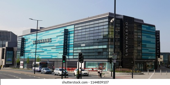 bradford, west yorkshire, england - 04/08/2018. Debenhams at broadway shopping centre.