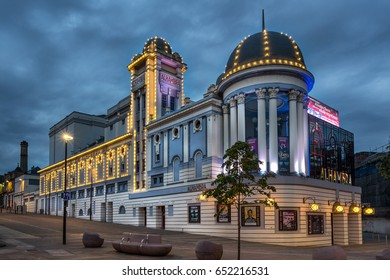Bradford,England on 1st June 2017:Bradford Alhambra is a theatre in Bradford, West Yorkshire, England, The name comes from association with the Moor Alhambra palace in Granada