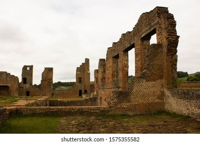 Bradgate House from the 16th centuary in England. Ruined wall in Bradgate Park.