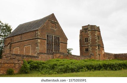 Bradgate House from the 16th centuary in England. Ruined chapel and tower in Bradgate Park.