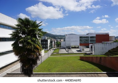 BRAGA, PORTUGAL -13 JUNE 2016- The Gualtar Braga campus of the University of Minho (Universidade do Minho) in Portugal.