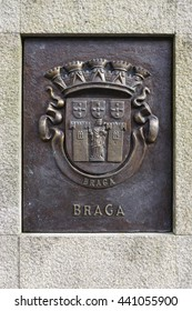 BRAGA, PORTUGAL -13 JUNE 2016- Downtown Braga, a large city in North Portugal in the Province of Minho. It hosts the largest Catholic archidiocese in Portugal.