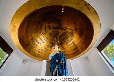 Braga, Portugal - August 22, 2020: Sanctuary of Our Lady of Sameiro (or Sanctuary of Sameiro or Immaculate Conception of Monte Sameiro) is a Marian sanctuary located in Braga, Portugal.