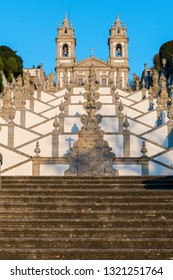 BRAGA, PORTUGAL - CIRCA FEBRUARY 2019: Sanctuary of Bom Jesus do Monte (also known as Sanctuary of Bom Jesus de Braga) is located in Tenoes parish, in the city, county and district of Braga, Portugal.