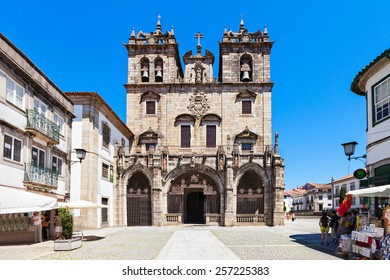BRAGA, PORTUGAL - JULY 11: The Cathedral of Braga (Se de Braga) is one of the most important monuments in Braga, Portugal on July 11, 2014 in Braga, Portugal