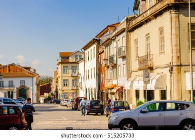 BRAGA, PORTUGAL - OCT 14, 2016: Architecture of the historic part of Braga, Portugal. The city was the European Youth Capital in 2012.