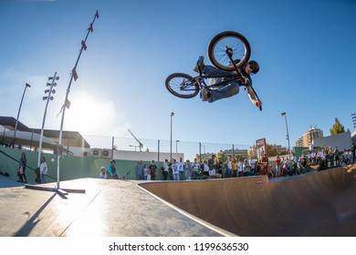 BRAGA, PORTUGAL - OCTOBER 7, 2018: Joao Pires during the Bowl Session Event.