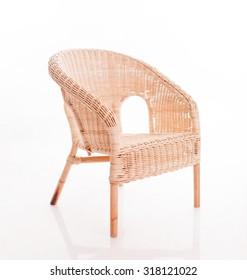 braided armchair isolated