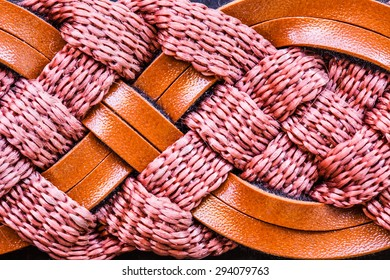 The braided rope.