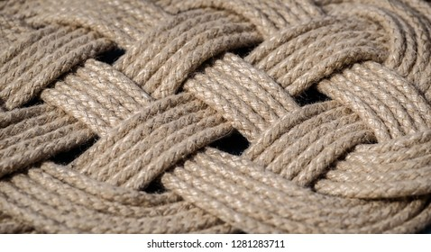 A braided rope background texture