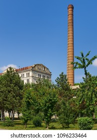 Braila, Romania - May 20, 2018: The Violattos flour mill in Braila, Romania was built by Anghel Saligny in 1898 and was the largest steam – powered flour mill in Eastern Europe.