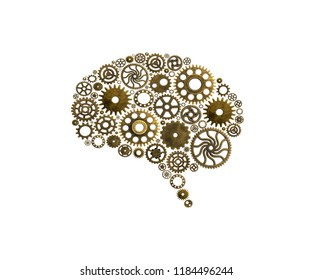 Brain build out of cogs Innovation with ideas and concepts