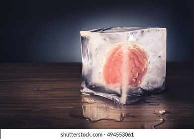 brain freeze concept with dramatic lighting