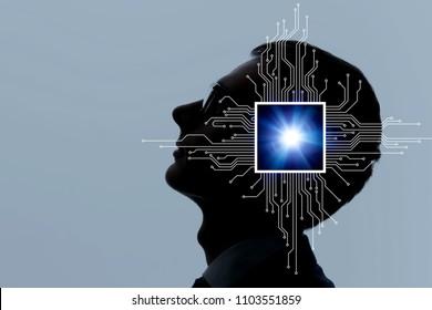 Brain implant concept.