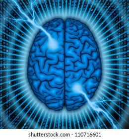 Brain power concept.