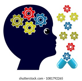 Brain Supplements for Children. Memory boosting pills to activate the cognitive activities of kids