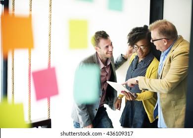 Brainstorming Discussion Communication Plan Concept