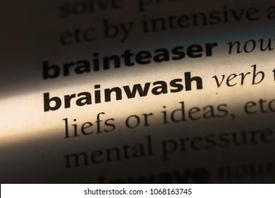 brainwash word in a dictionary. brainwash concept.