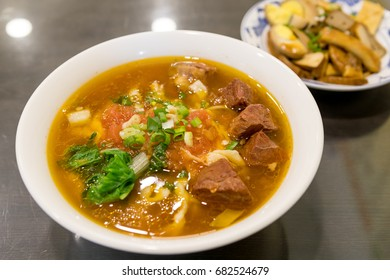 Braised beef noodle soup, is  popular cuisine in Taiwan.