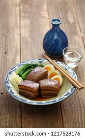 braised pork belly, dongpo pork, okinawa rafute