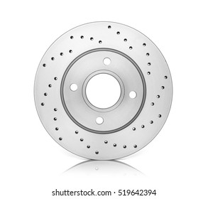 Brake disc on white