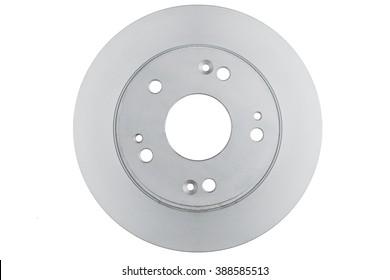 Brake disc rotor isolated on white. Braking disk. Car part