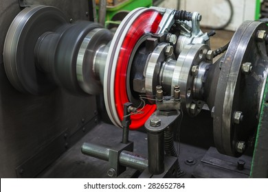 Brake disc. Thermal test Car brake discs