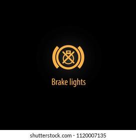 Brake lights background