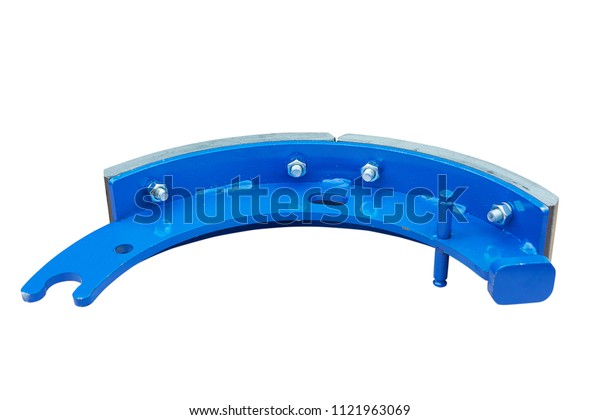 Brake pad for the car on a white background