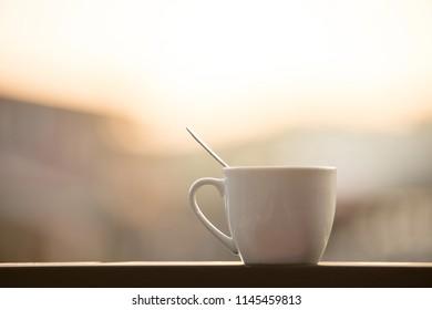 brake time with a mug of coffee