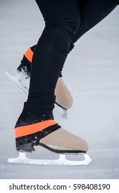 Braking with ice skates
