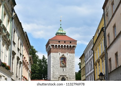 Brama Floriasnska tower,Cracow,Poland,