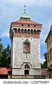 Brama Floriasnska tower,Cracow,Poland,