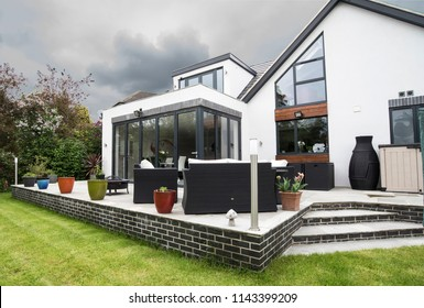 Bramcote, Nottinghamshire, UK  05/26/2016, Modern bespoke architect designed home exterior