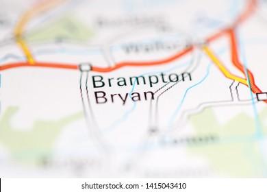 Brampton Bryan. United Kingdom on a geography map