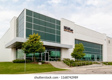 Brampton, Ontario, Canada- August 25, 2018: BEHR Canada in Brampton, BEHR Process Corporation is an American supplier of paint and exterior wood care products to the United States and Canadian markets